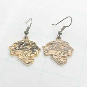 NFL Jacksonville Jaguars Gold Earrings